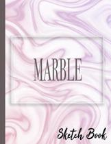 Marble Sketch Book: Practice Drawing, Doodle, Paint, Write: Large Sketchbook And Creative Journal (Beautiful Purple Fluid Marble Cover)