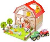 New Classic Toys - Houten Boerderij Speelset