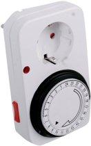 Analoge Tijdschakelaar Mechanisch - Handmatige Tijd Schakelklok / Tijdklok Schakelaar / Tijdschakelklok / Timer Analoog - Voor Stopcontact Binnen