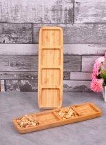Sener paci Snack- & Tapasschalen - Bamboe - Vierkant - Groot