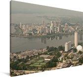 Uitzicht over Abidjan Canvas 140x90 cm - Foto print op Canvas schilderij (Wanddecoratie woonkamer / slaapkamer)