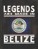 Legends Are Made In Belize: Customized Gift for Belizean Coworker Undated Planner Daily Weekly Monthly Calendar Organizer Journal