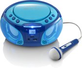 Lenco SCD-650 Radio CD-speler Incl. karaokemicrofoon en LED - Blauw