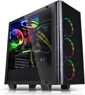 Thermaltake View 21 Tempered Glass Edition computerbehuizing Midi-Tower Black