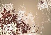 Fotobehang Flowers Abstract | XL - 208cm x 146cm | 130g/m2 Vlies