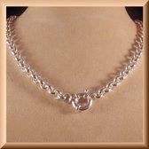 Zilveren Jasseron collier van 10 mm breed