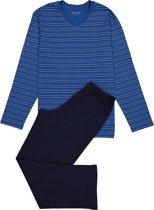 Schiesser heren pyjama - blauw gestreept -  Maat XL