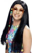 Dames Hippie pruik zwart