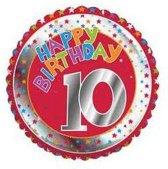 Happy Birthday 10 jaar folie ballon