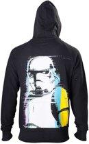 Star Wars Hoodie Zwarte Stormtrooper op Achterkant S