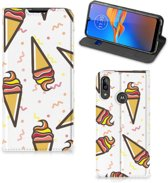 Motorola Moto E6 Plus Flip Style Cover Icecream