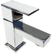 Toiletkraan Box Laag Vierkant Chroom