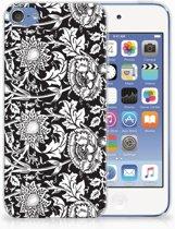Apple iPod Touch 5 | 6 Uniek TPU Hoesje Black Flowers
