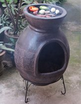 Sol-y-Yo Chimenea Mexicaanse terracotta kachel Barbecue Jumbo (bruin)