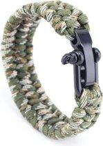Paracord armband Camo - RVS verstelbare sluiting