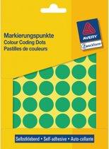 Huismerk Avery 3376 Ronde Etiket 18mm Groen