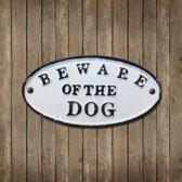 Muurplaat Beware of the DOG - set van 4 stuks