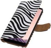 Zebra design book case voor Samsung Galaxy S8 Plus hoesje