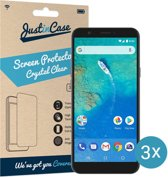 Just in Case Screen Protector General Mobile GM8 - Crystal Clear - 3 stuks