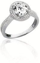 Classics&More - Zilveren Ring Ovaal met zirkonia