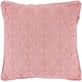 Dutch Decor Kussenhoes Paget 45x45 cm roze