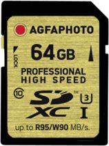 AgfaPhoto SDXC kaart UHS I 64GB Professional High Speed U3 95/90