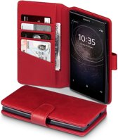 Sony Xperia L2 hoesje - CaseBoutique - Rood - Leer