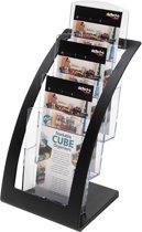 6x Deflecto Folderhouder Contemporary, 1/3 A4, zwart
