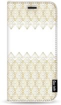 Casetastic Wallet Case White Samsung Galaxy J4 Plus (2018) - Golden Diamonds