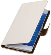 Wicked Narwal | bookstyle / book case/ wallet case Hoes voor sony Xperia Z4 Z3+ Wit