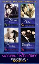 Modern Romance December 2015 Books 5-8: Talos Claims His Virgin / Destined for the Desert King / Ravensdale's Defiant Captive / Caught in His Gilded World