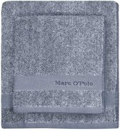 Marc O'Polo Melange  Washandje - 16x22 - Blue/off white
