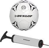 Dunlop Voetbal Met Pomp Wit Maat 5