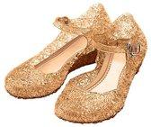 Prinsessen schoenen goud maat 28 Prinses Elsa/Anna  (valt als maat 26) - verkleedkleding