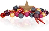 Excellent Deco - Plastic Kerstballen Mix 63 Stuks - Gold Purple