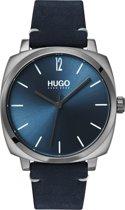 HUGO HU1530069 #OWN - Polshorloge - Leer - Blauw -  Ø 40 mm