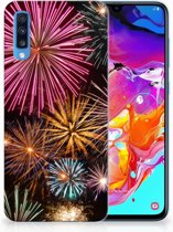 Samsung Galaxy A70 TPU Siliconen Hoesje Design Vuurwerk