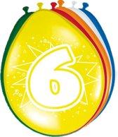 8x stuks Ballonnen versiering 6 jaar