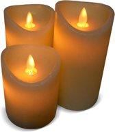 LED Kaars Bewegende Vlam - Set van 3