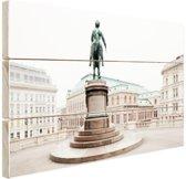 Aartshertog Albrecht Monument Wenen Hout 60x40 cm - Foto print op Hout (Wanddecoratie)
