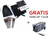 BANERRA Make-up Kwasten Set Zwart + GRATIS Make-up Tas