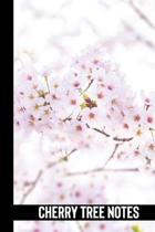 cherry tree notes: small lined Bloom Notebook / Travel Journal to write in (6'' x 9'') 120 pages