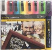 Securit krijtstiften medium - set van 8 - wit, rood, blauw, geel, oranje, roze, groen en paars