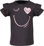 Blue Seven Meisjes t-shirt - antraciet - Maat 86