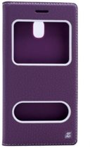 Teleplus Samsung J3 Pro Galaxy Double Window Case Purple hoesje