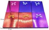 6 stuks Verpakkings doosjes ketting - Glans  Rood, Blauw & Paars - 18x13x3 cm