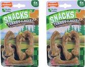 Nylabone gezonde harde snack S kalkoen 4x - 2 verpakkingen