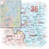 Bacher Postleitzahlenkarte Hessen 1 : 250 000. Posterkarte