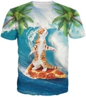 Pizza kat surfer Maat M