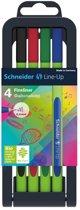 Fineliner Schneider Line-Up 0,4mm assorti 4 stuks